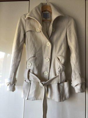 Amisu Wełniany sweter w kolorze białej wełny-kremowy