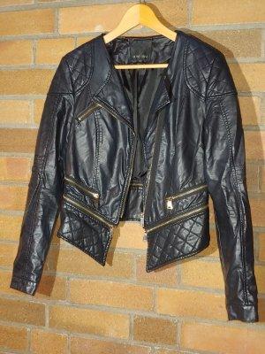 Amisu Leather Jacket black