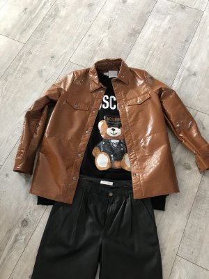 Asos Leather Shirt bronze-colored