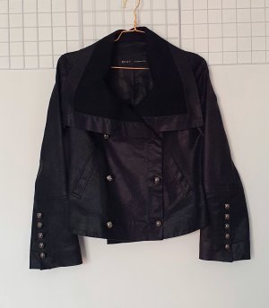 Barbara Bui Between-Seasons Jacket black-silver-colored cotton