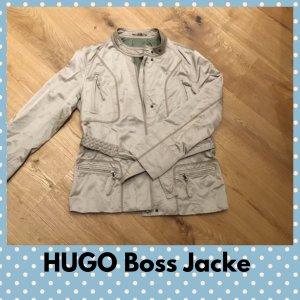 Hugo Boss Biker Jacket oatmeal-camel mixture fibre