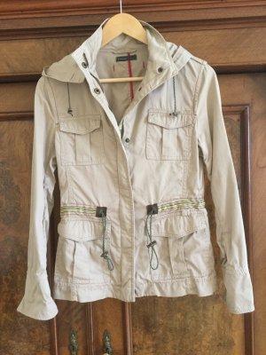 Breuninger Exquisit Long Jacket camel cotton