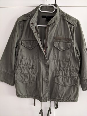 Calvin Klein Jeans Militair jack khaki-groen-grijs Katoen