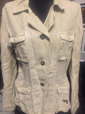 Jacke von Closed in Leinen - mit Stickerei hinten und an einer Tasche