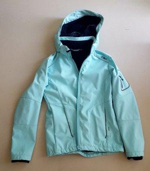 CMP Softshell Jacket black-turquoise