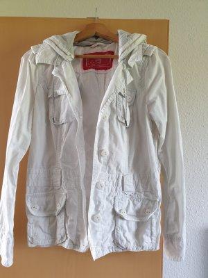 Jacke von Esprit in weiß/grau