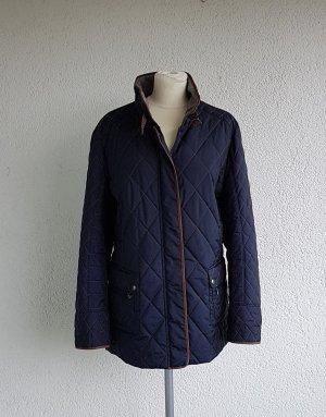 Gerry Weber Quilted Jacket brown-dark blue mixture fibre