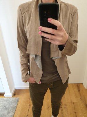 Gipsy Chaqueta de cuero gris-marrón claro