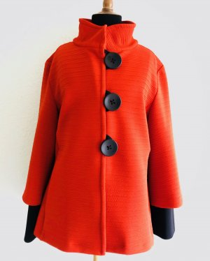 Joseph Ribkoff Between-Seasons Jacket bright red-black