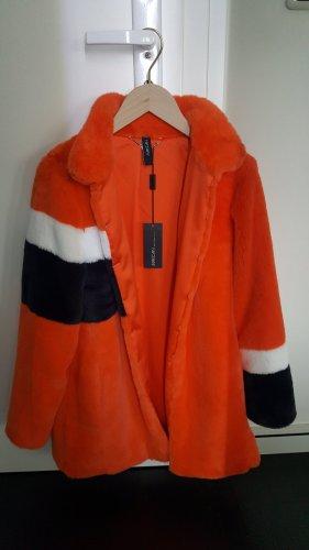 Marc Cain Jack van imitatiebont oranje