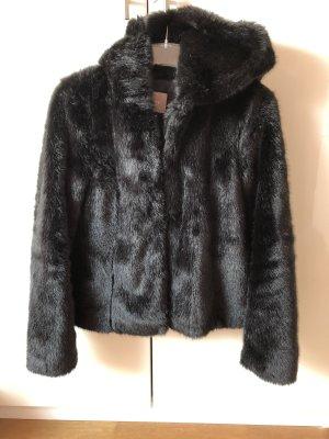 Orsay Kurtka ze sztucznym futrem czarny