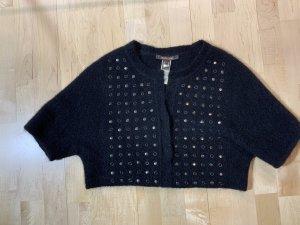 Roberto Cavalli Short Sleeve Knitted Jacket black