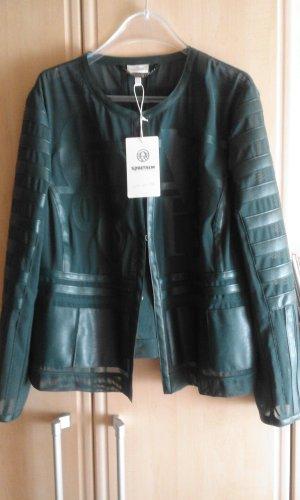 Sportalm Blouse Jacket petrol polyurethane