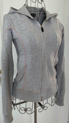 Trussardi Sports Jacket light grey-dusky pink cotton