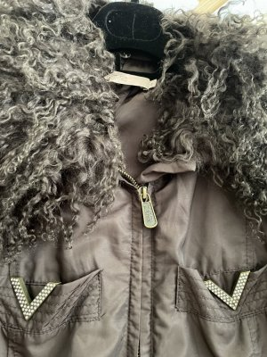 Jacke von VALENTINO Gr D 40 mit  Kragen (Curly Lamm), abnehmbar