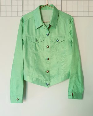 Versace Classic V2 Blouse Jacket pale green-lime-green cotton