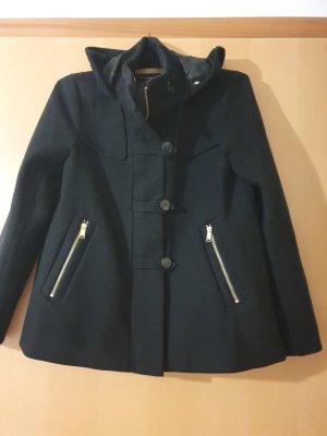 Zara Basic Veste en laine noir-doré