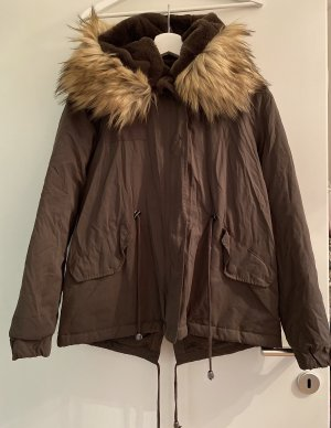 Zara Kurtka zimowa szaro-brązowy