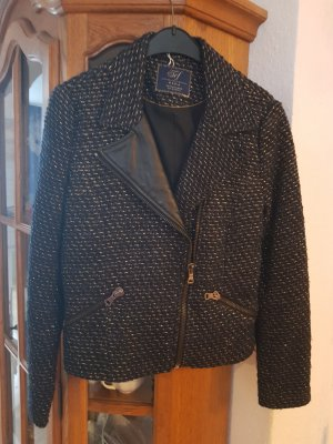 Zara Giacca di lana nero-oro