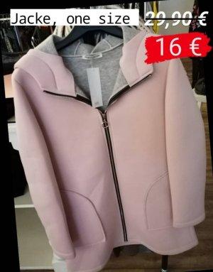 Chaqueta para exteriores color rosa dorado-rosa empolvado