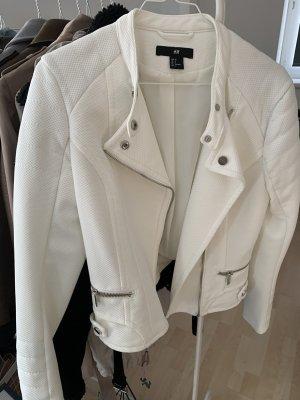 H&M Veste motard blanc