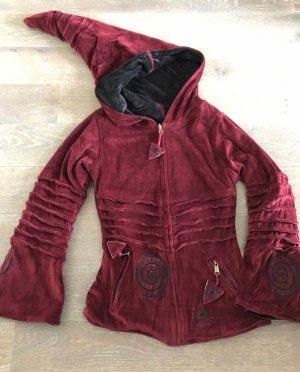 Dwustronna kurtka głęboka czerwień-czarny