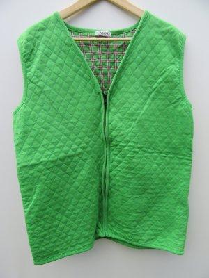 Jacke Weste Damen Vintage Retro grün Gr. XL/XXL