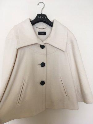 Jacke Wolljacke Winterjacke weiß cremefarben von DAMO Größe 38/40