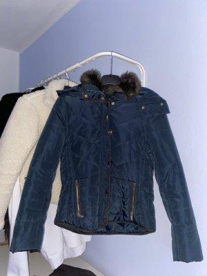 Zara Kurtka zimowa ciemnoniebieski