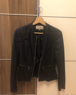 Zara Trafaluc Chaqueta de cuero de imitación negro