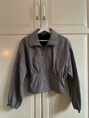 Zara Bomber Jacket silver-colored-grey