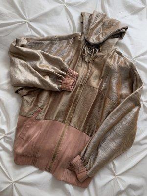 Zara Kurtka z kapturem w kolorze różowego złota-brąz