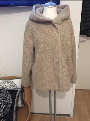 Zara Chaqueta con capucha crema-beige claro