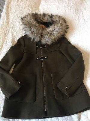 Zara Duffle-coat kaki-brun