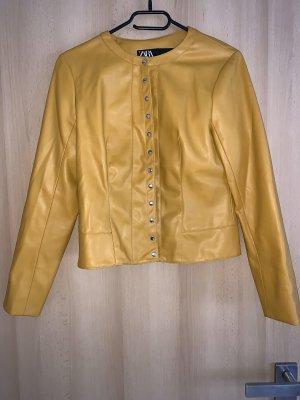 Zara Giacca in ecopelle giallo-oro