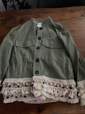 Zara Blouse Jacket dark green