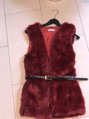 100% Fashion Chaqueta Teddy burdeos