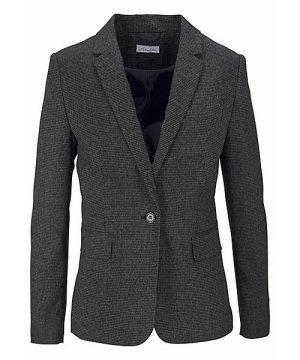 Jackenblazer/ Trend Blazer in figurbetonender Passform mit Ellbogen-Patches