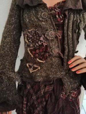 Lissa Vestido corsage burdeos