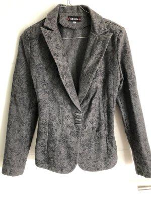 Jacket Anzugsjacke grau mit Blumenmuster Blazer