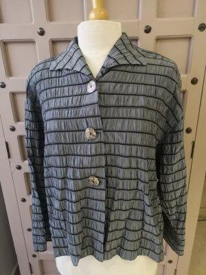 Chaqueta tipo blusa negro-color plata
