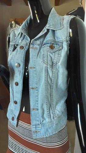 Jacket & Coat Gilet en jean bleu pâle