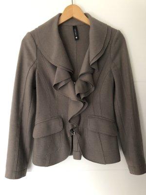 MARCCAIN Blazer en laine gris brun