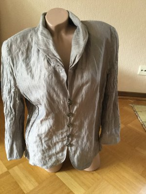 Gerry Weber Waxed Jacket grey brown cotton