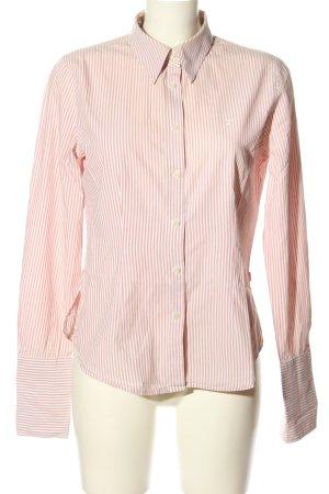 Jackpot Langarm-Bluse pink-wollweiß Streifenmuster Business-Look