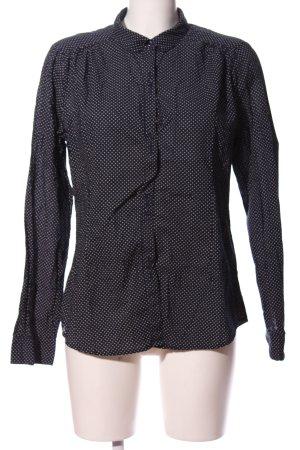 Jackpot Langarmhemd schwarz-weiß Punktemuster Casual-Look