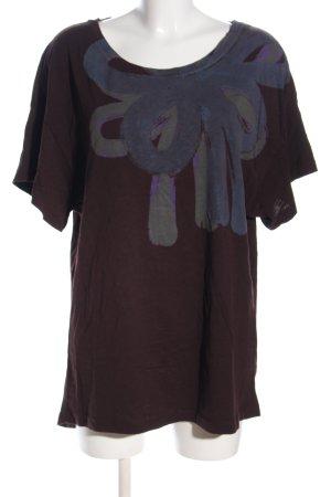 Jackpot Print-Shirt blau abstraktes Muster Casual-Look