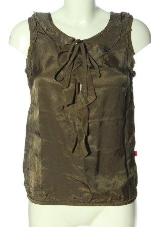 Jackpot Blusa senza maniche cachi-lilla stampa integrale stile casual
