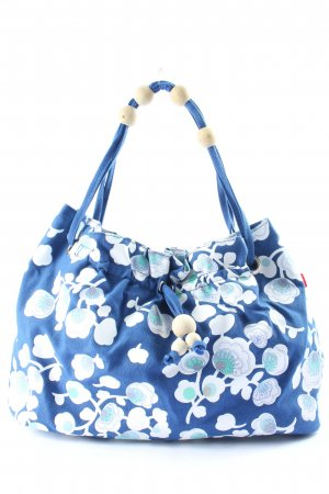 Jackpot Canvas Bag blue-white allover print casual look