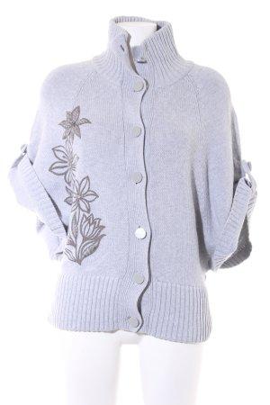 Jackpot Smanicato lavorato a maglia grigio chiaro stile casual